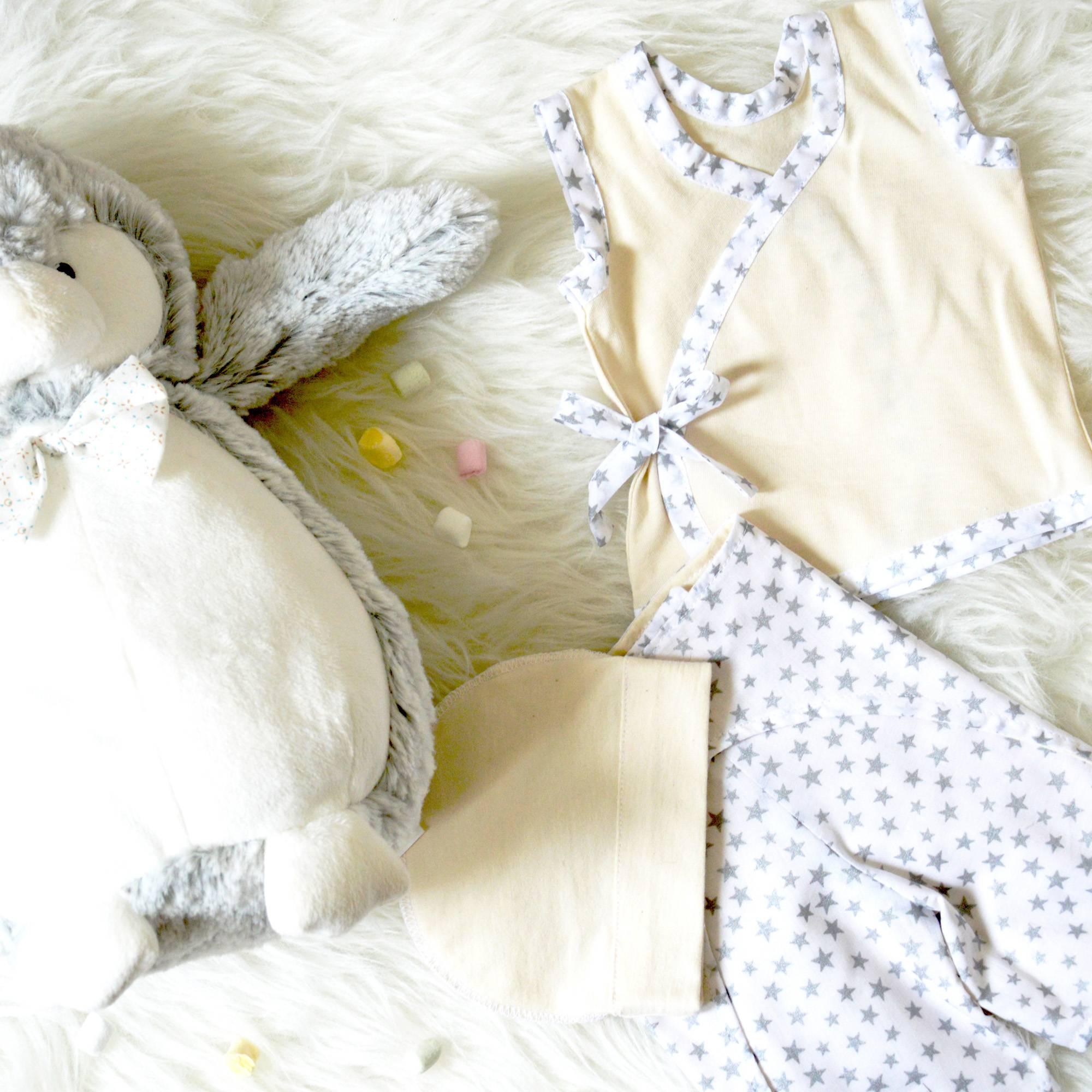 Au reve eveille – premature 1kg5 – blanc etoiles grises